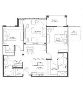 Floor plans aquila commons for The lenox floor plan